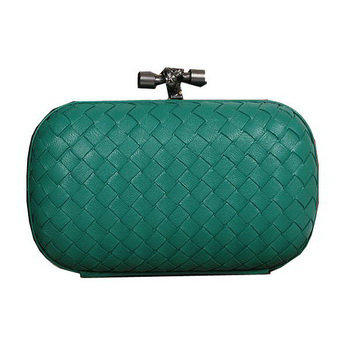Bottega Veneta intrecciato calf leather clutch 11308 dakr green